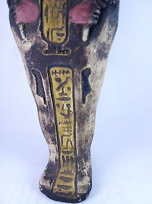 RARE ANCIENT EGYPTIAN Antique Egypt Statue Hieroglyphs USHABTI Shabti Stone Bc 9