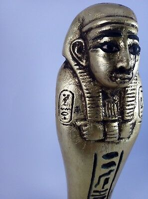 RARE ANCIENT EGYPTIAN STATUE Faience Figure Ushabti Shabti Tomb King Bc
