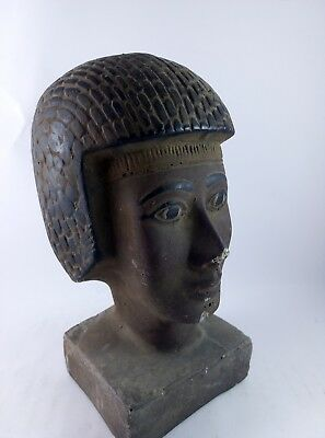 RARE ANCIENT ANTIQUE EGYPTIAN Gods Statue King Seti Ii Head 1200-1194 Bc 8