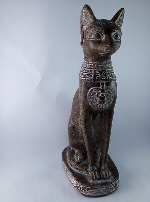 ANCIENT EGYPTIAN ANTIQUE STATUE Of Figurine Egypt Cat Goddess Bast Bastet 945 Bc 3