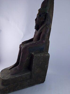 ANCIENT EGYPTIAN ANTIQUE STATUE Pharaoh Egypt King Ramses 1279-1213 Bc 5