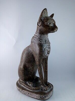 ANCIENT EGYPTIAN ANTIQUE STATUE Of Figurine Egypt Cat Goddess Bast Bastet 945 Bc 6
