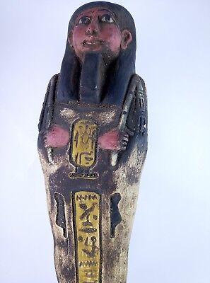 RARE ANCIENT EGYPTIAN Antique Egypt Statue Hieroglyphs USHABTI Shabti Stone Bc 10