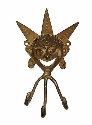 An Old Brass made Unique self engraved CLOWN designed COAT HOOK from INDIA 3
