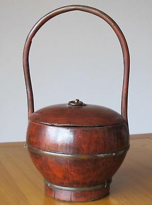 Small Red Antique Basket 5