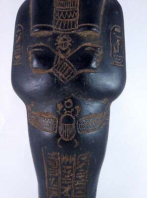 Rare ANCIENT EGYPTIAN Antique Large Statue Faience USHABTI SHABTI and Scarab Bc