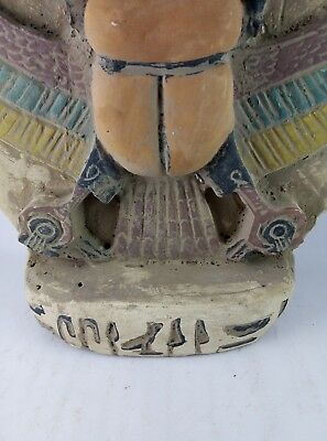 RARE ANCIENT EGYPTIAN ANTIQUES Scarab and Eye of Horus Goddess Egypt Stone Bc 6