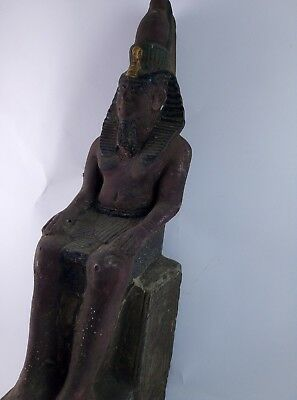 ANCIENT EGYPTIAN ANTIQUE STATUE Pharaoh Egypt King Ramses 1279-1213 Bc 4