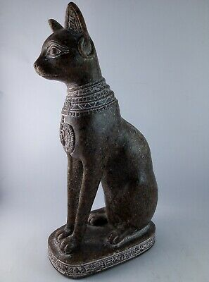 ANCIENT EGYPTIAN ANTIQUE STATUE Of Figurine Egypt Cat Goddess Bast Bastet 945 Bc 7