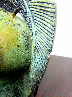 Ancient Greek Bronze Museum Replica Vintage Athenian Battle Helmet Collectable 7