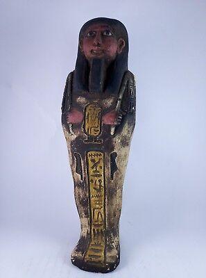 RARE ANCIENT EGYPTIAN Antique Egypt Statue Hieroglyphs USHABTI Shabti Stone Bc 7