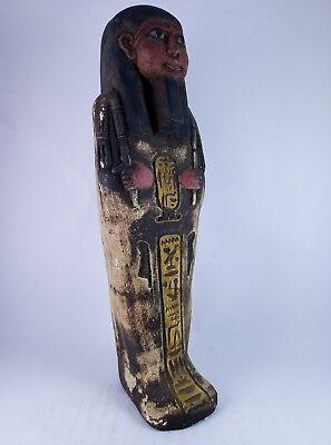RARE ANCIENT EGYPTIAN Antique Egypt Statue Hieroglyphs USHABTI Shabti Stone Bc 12
