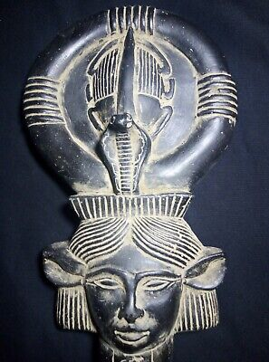 RARE ANTIQUE ANCIENT EGYPTIAN Key of Life Hathor & Scarab Stone 1454-1360 Bc 3