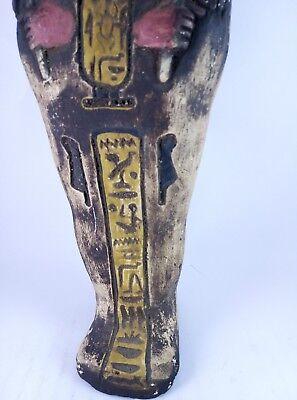 RARE ANCIENT EGYPTIAN Antique Egypt Statue Hieroglyphs USHABTI Shabti Stone Bc 8