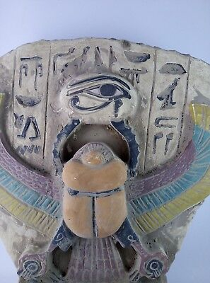 RARE ANCIENT EGYPTIAN ANTIQUES Scarab and Eye of Horus Goddess Egypt Stone Bc 7