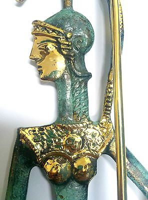 Ancient Greek Bronze Museum Statue Replica Of Athena Wth A Spear And Winged Nike 5