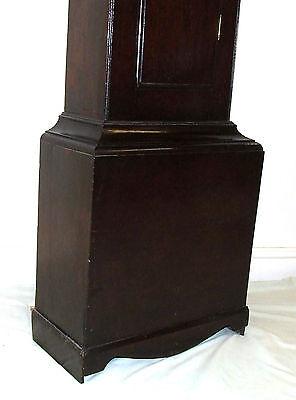 Early Petite Antique Oak Longcase Grandfather Clock 10