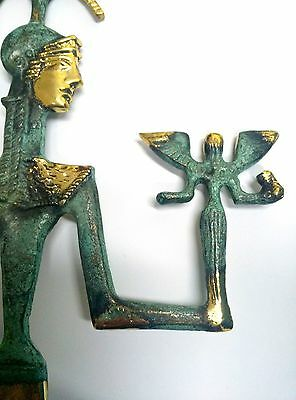 Ancient Greek Bronze Museum Statue Replica Of Athena Wth A Spear And Winged Nike 8