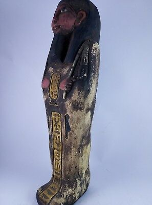 RARE ANCIENT EGYPTIAN Antique Egypt Statue Hieroglyphs USHABTI Shabti Stone Bc 3