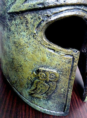 Ancient Greek Bronze Museum Replica Vintage Athenian Battle Helmet Collectable 5