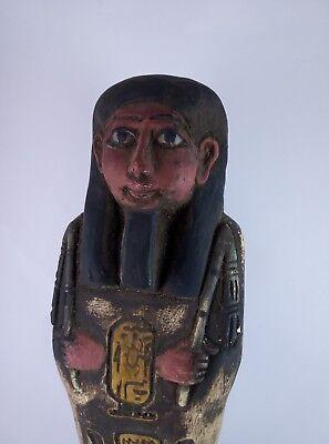 RARE ANCIENT EGYPTIAN Antique Egypt Statue Hieroglyphs USHABTI Shabti Stone Bc 11