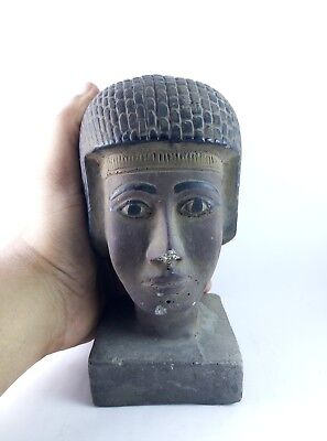 RARE ANCIENT ANTIQUE EGYPTIAN Gods Statue King Seti Ii Head 1200-1194 Bc 4
