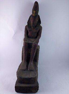 ANCIENT EGYPTIAN ANTIQUE STATUE Pharaoh Egypt King Ramses 1279-1213 Bc 2