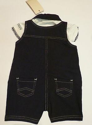 Abbigliamento Bambini - ARMANI Conf.regalo salopette blu con polo-body bianco 2