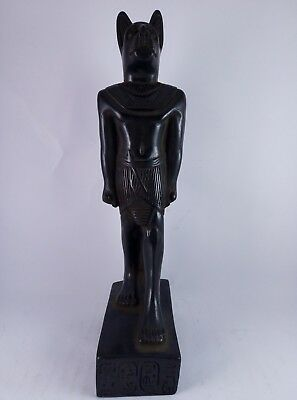 RARE ANCIENT ANTIQUE EGYPTIAN Statue Egypt Bastet Cat Goddess Figurine Bc 3