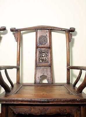 Antique Chinese High Back Arm Chairs (5511) (Pair), Circa 1800-1849 6