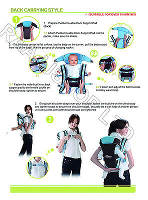 New Ergonomic Strong Breathable Adjustable Infant Newborn Baby Carrier Backpack 9