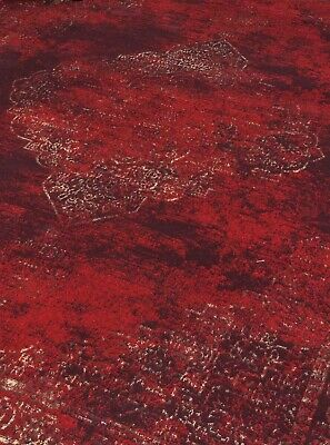 Burgundy Rug Classic Vintage Design Traditional Faded Distressed Ruby Red 8