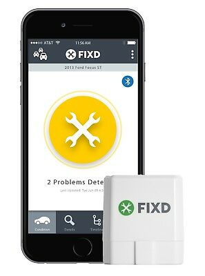 Fixd Obd-Ii Active Car Health Monitor Engine Code Reader Diagnostic Scanner Tool 7