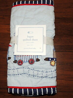 "Pottery Barn Baby Logan Hand Quilted Sham Small New 12 x 16"" $29.50"