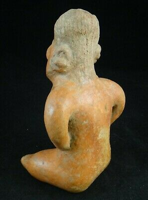 Pre-Columbian Nayarit-Chinesco Pottery Figure,red slip glaze.c.200 BC- 200 ACE 4