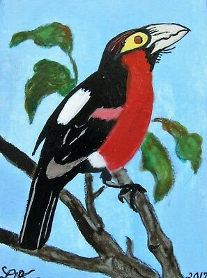 "C360      Original Acrylic  Painting By Ljh  ""Birds Of A Feather"" 6"