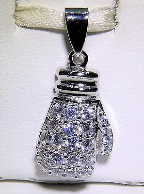 Boxing Glove charm Sterling Silver 925 charmmakers 3D