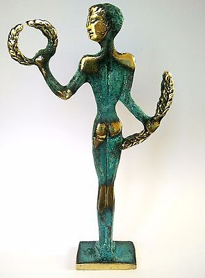 Ancient Greek Bronze Museum Statue Replica Of Olympic Games Winner Collectable 8