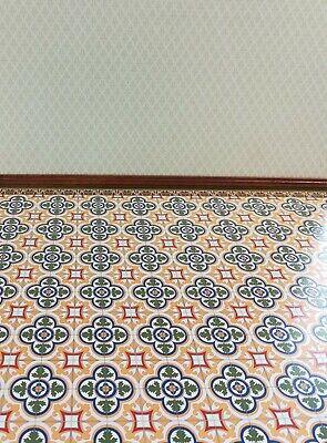 Dollhouse Miniature Victorian Tile Large Flooring Sheet Card Stock 1:12 Scale 3