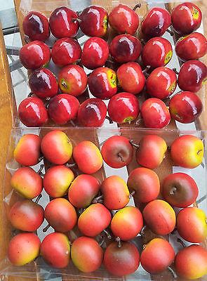 24  x Äpfel Deko Künstliche Attrappen Früchte Kunstobst Dekoobst Dekofrüchte 2