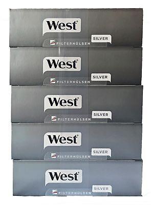 5 West Silver/Silber Tabak 115g Beutel, Silber Hülsen, Feuerz., Aschenb., Box 4