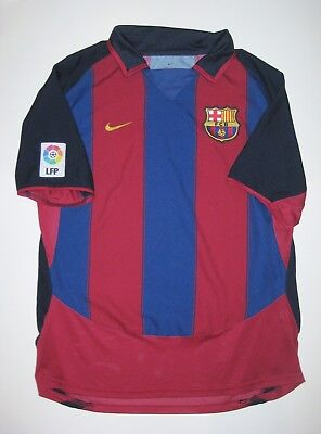 best sneakers 7c517 c173c 2003-2004 NIKE FC Barcelona Ronaldinho Home Jersey Trikot Shirt Kit Brazil  FCB