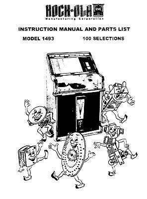 Rock Ola Model 1493 Princess Jukebox Instruction /& Parts Manual