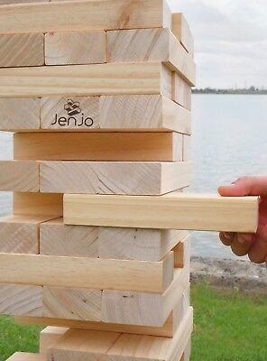 Giant Jenjo Wooden Tumbling Tower Game 63cm 4