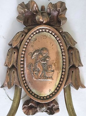 Two E. F. Caldwell Bronze Sconces With Winged Putti Tending to Fire! 4