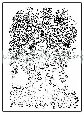 6 Of 12 Adult Colouring Book Zen Henna Anti Stress Green Lady Garden Calm Art Therapy