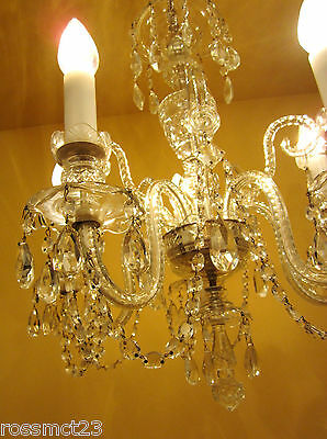 Vintage Lighting high quality Czech crystal chandelier by Weiss and Biheller 7