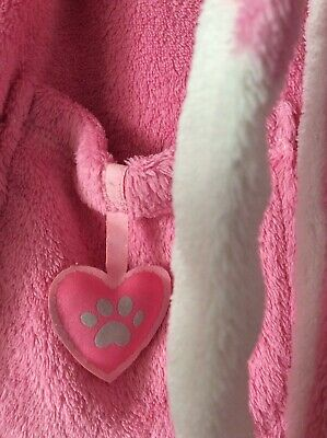 Bhs Disney Dalmation Fleece Dressing Gown Pink/white Age 4-5 Years 6