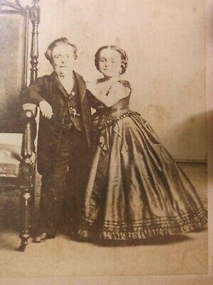 Rare Antique Victorian Era Photograph Of General Tom Thumb & Wife Lavinia Warren 7