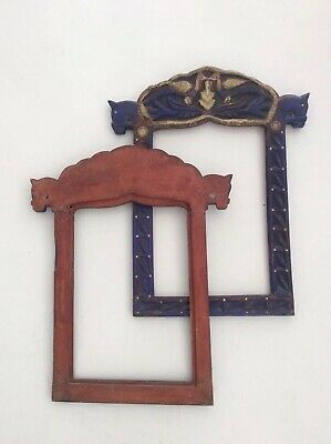 Pair Of Early Twentieth Century Carved Wooden Frames From Navarra Spain 2